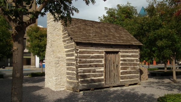 Replica of John Neely Bryan Cabin