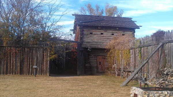 Rebuilt (replica?) Fort Parker, near Groesbeck, Texas.